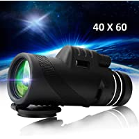 ORPIO (LABEL) High Definition Monocular Telescope HD Dual Focus Scope, Waterproof Compact Monocular with Multi-Coated Zoom Lens Low Night Vision for Hunting Bird Watching/ Camping/ Hiking/ Outdoor (40 X 60)