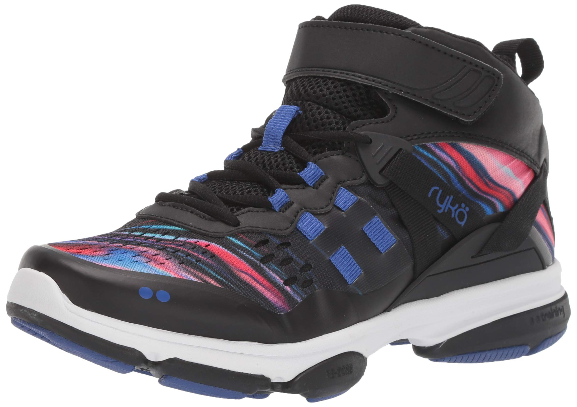 Ryka Women's Devotion XT Mid Cross Trainer, Black/Blue/Pink, 7 W US by Ryka