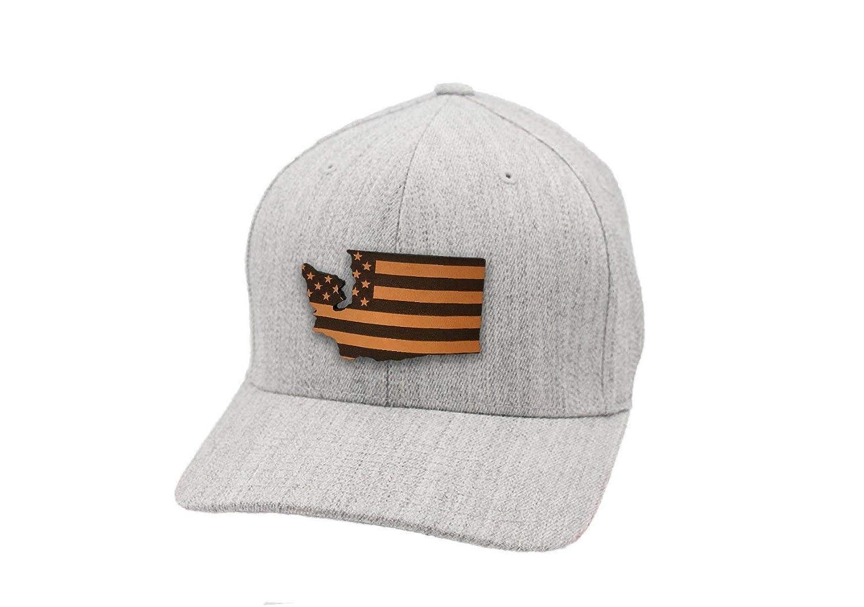 Branded Bills Washington Patriot Leather Patch Hat Flex Fit
