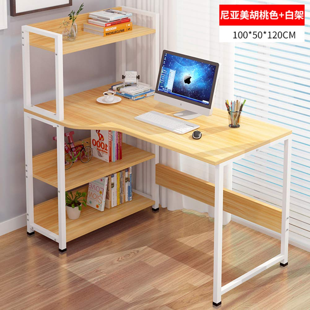 M 100x50x120cm(39x20x47inch) Tower Computer Desk,Computer Table with Storage,Compact Home Office Studying Writing Table Multipurpose Workstation-b 103x40x105cm(41x16x41inch)