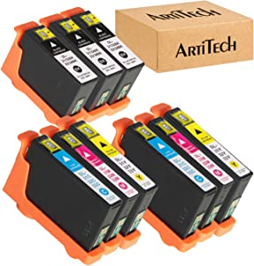 V525W Ink Cartridges Compatible for Dell Series 31 32 33 34 Ink Cartridges Work for Dell V525W, V725W Printers All-in-One Wireless Inkjet Printer 9 Pack (3 Black, 2 Cyan, 2 Magenta, 2 Yellow)