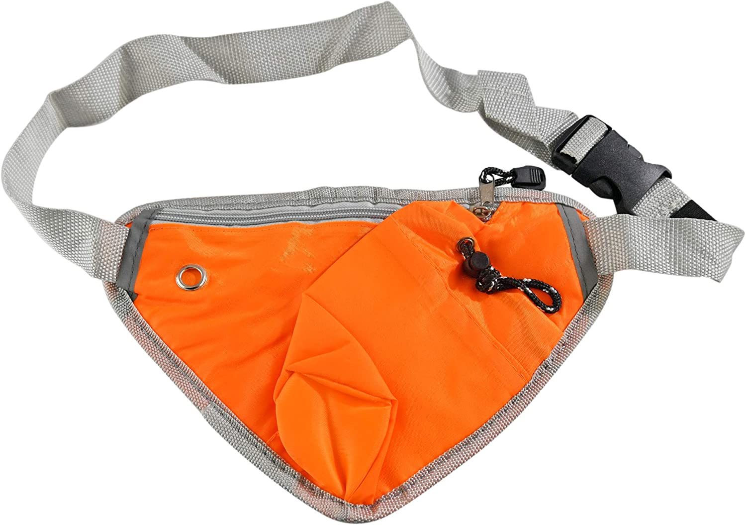 "Home-X Hiking Waist Bag Fanny Pack w/Water Bottle Holder, Running & Dog Walking, Adjustable Waist Belt Bag Running Belt Sport Waist Pack/Pouch with Water Bottle Cellphone Holder-10 x6.5"", Orange"