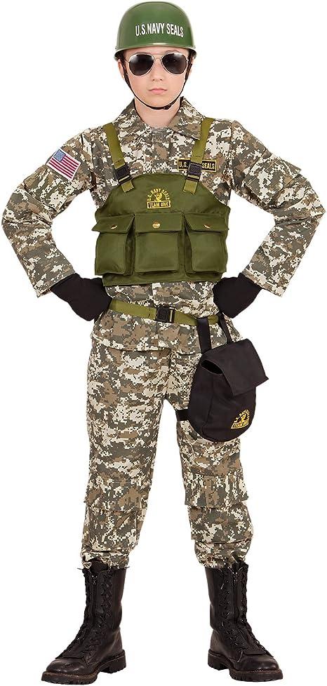 Partypackage - Disfraz Militar de Sellos para niños (140 cm, 8 a ...