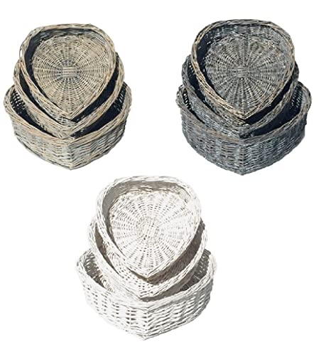 Topfurnishing heart shape wicker basket easter wedding christmas topfurnishing heart shape wicker basket easter wedding christmas gift hamper storage basketwhitelarge negle Gallery