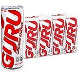 GURU Lite Organic Energy Drink, Low Calorie, Vegan, Natural, 8.4oz can (8 count)