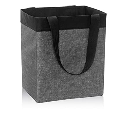 Charmant Thirty One Essential Storage Tote In Charcoal Crosshatch   No Monogram    4446