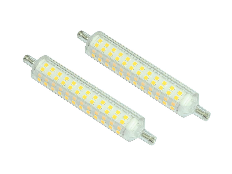 Juego de 2 bombillas LED R7S 15 W 1200 lúmenes Pegaso, luz natural 4000 K Slim Version: Amazon.es: Iluminación