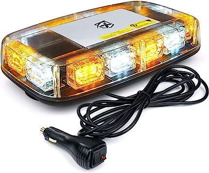 Amber 8 LED Car Truck Emergency Beacon Lights Hazard Flash Strobe Bar Warning