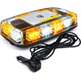 [Upgraded] Xprite 12' Roof Top Mini Strobe Light Bar Magnetic Mount Emergency Safety Warning Caution Flashing Beacon…