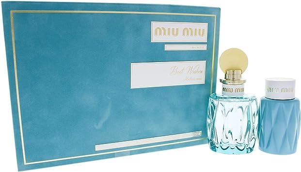 Miu Miu - Estuche de regalo eau de parfum leau bleue: Amazon.es: Belleza