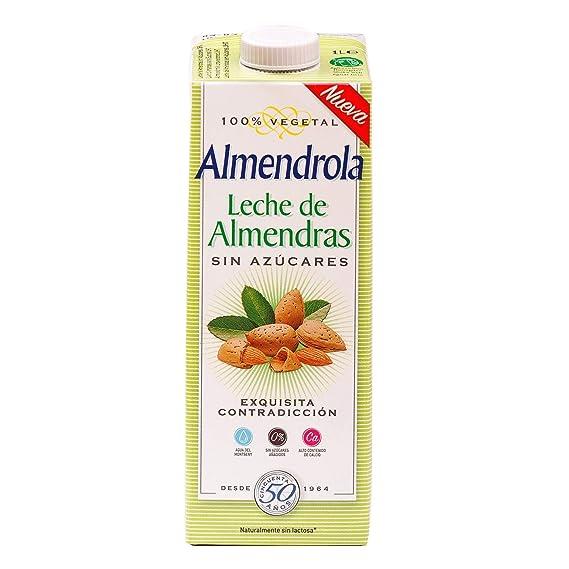 Almendrola Bebida Vegetal de Almendras sin azucar - Paquete de 6 x 1000 ml - Total
