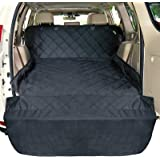 F-color SUV Cargo Liner for Dogs, Waterproof Pet Cargo Cover Dog Seat Cover Mat for SUVs Sedans Vans with Bumper Flap Protect