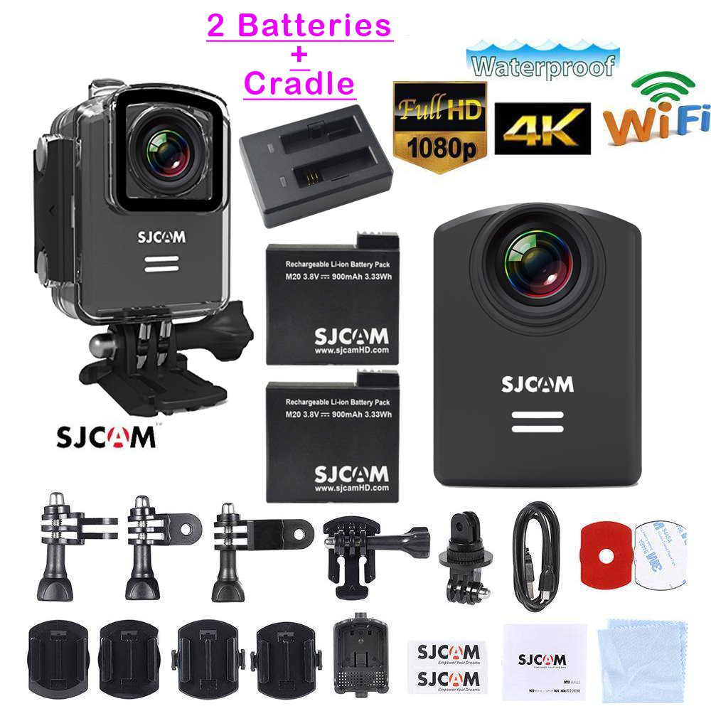 Genuine SJCAM M20 2.5K Photo Gyro Video Camcorder Resolution Mini Action Helmet Wifi Camera Waterproof 2160PHD Sport DV Riding Recorder SJCAMM20
