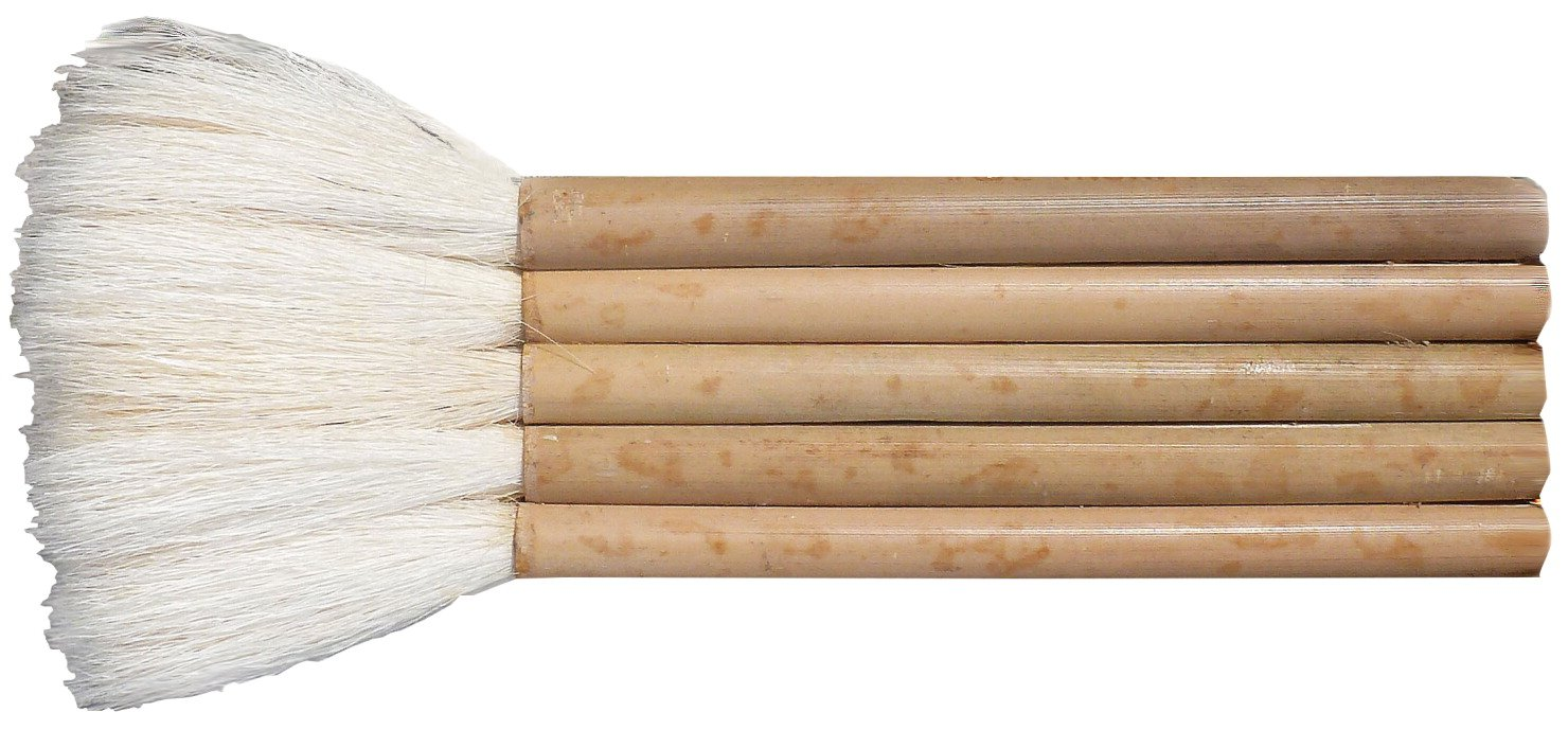 Yasutomo Sheep Hair Short Bamboo Handle Hake Brush, 1-1/2 in Yasutomo Inc