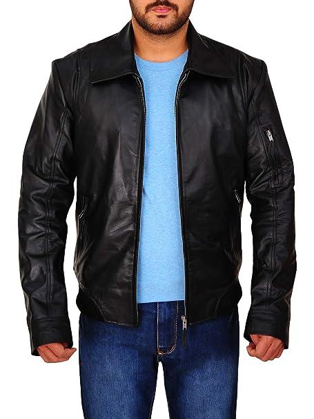 Amazon.com: Trendhoop Designer - Chaqueta de piel suave para ...