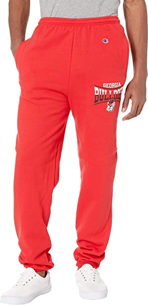 207ef95cf9449 Champion College Men s Georgia Bulldogs Eco Powerblend Banded Pants Scarlet  Small 31