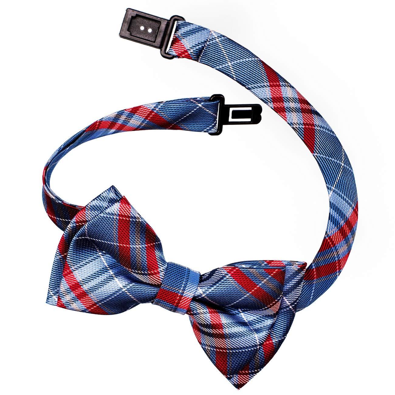 Retreez Christmas Holly Leaves Woven Pre-tied Boys Tie