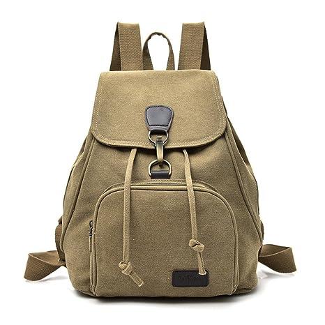 Mochila de lona minimalista Sra. students mochilas escolares hombros paquete Moda, Recreación,