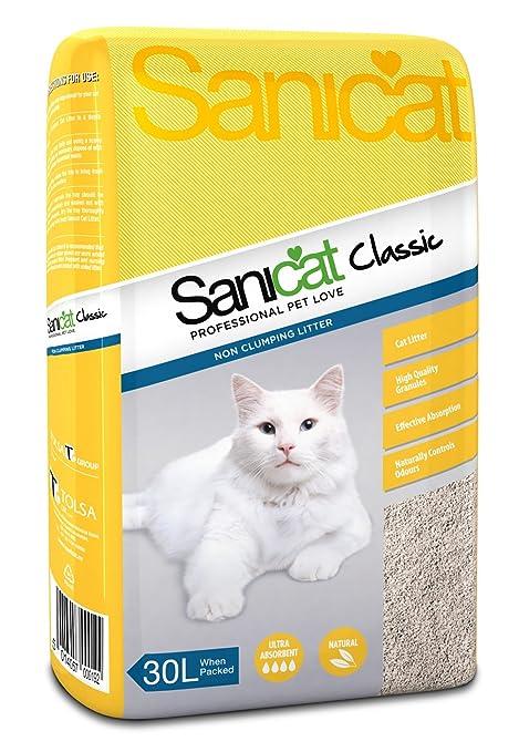 SANICAT Classic - Arena para gatos absorbente, 30L