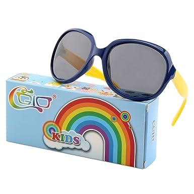 3b7f9d90456103 CGID Lunettes de soleil polarisées souples en caoutchouc de pour les enfants  à la mode élégantes