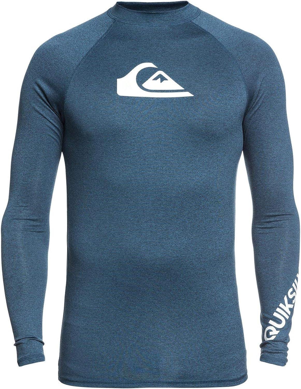 Quiksilver Mens All Time Ls Long Sleeve Rashguard Surf Shirt Rash Guard Shirt