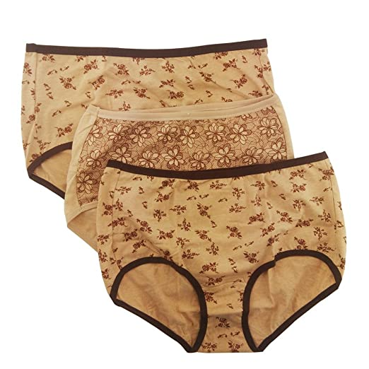 9e8ecb03a42 Sujisi Women's Natural Colored Cotton Brief Panty Beyond Soft Underwear 3  Pack,Fit US M