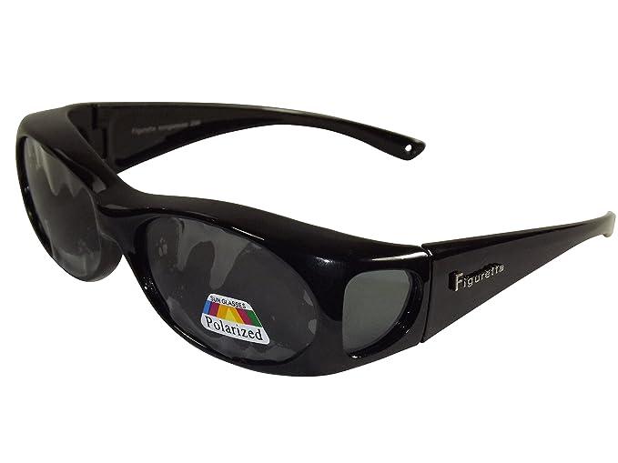 f1b9e8ad07 Figuretta Lunettes de soleil/sur-lunettes, noir: Amazon.fr: Beauté et  Parfum