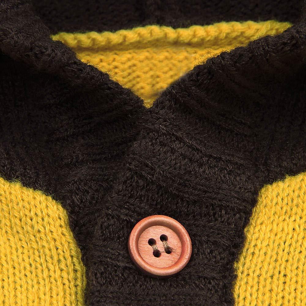 Manteau Tricot/ée B/éb/é Gar/çon Filles BaZhaHei Enfant Bambin De No/ël Cerf Veste /à Manches Longues en Tricot /à Capuche Tops Pull Manteaux Chauds V/êtements