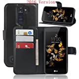 Wallet Cover Per LG K8, Custodia Per LG K8 - SMTR Custodia In Pelle Con Wallet Case Cover Per LG K8 - Nero