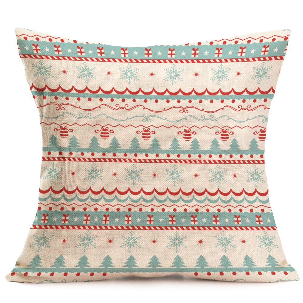 AIMTOPPY Christmas Cartoon Decoration Festival Pillow Case Cushion Cover