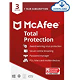McAfee Total Protection 2021, 3 Device Antivirus Internet Security Software, Password Manager, Privacy, 1 Year - Download Cod