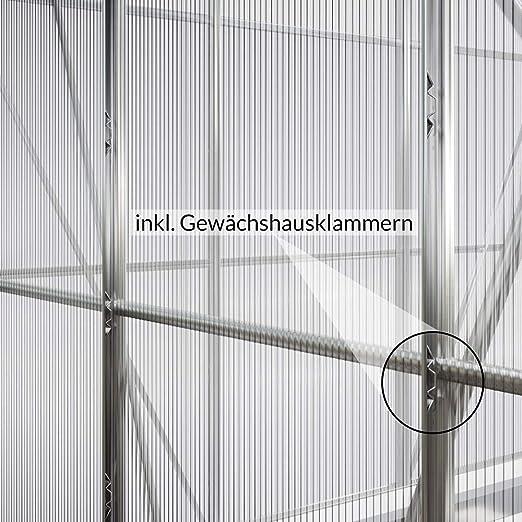 Deuba Invernadero de Pared de Aluminio 3, 65m³ 192x127cm vivero Lateral huerto de Medio de jardín para Plantas Verduras: Amazon.es: Jardín