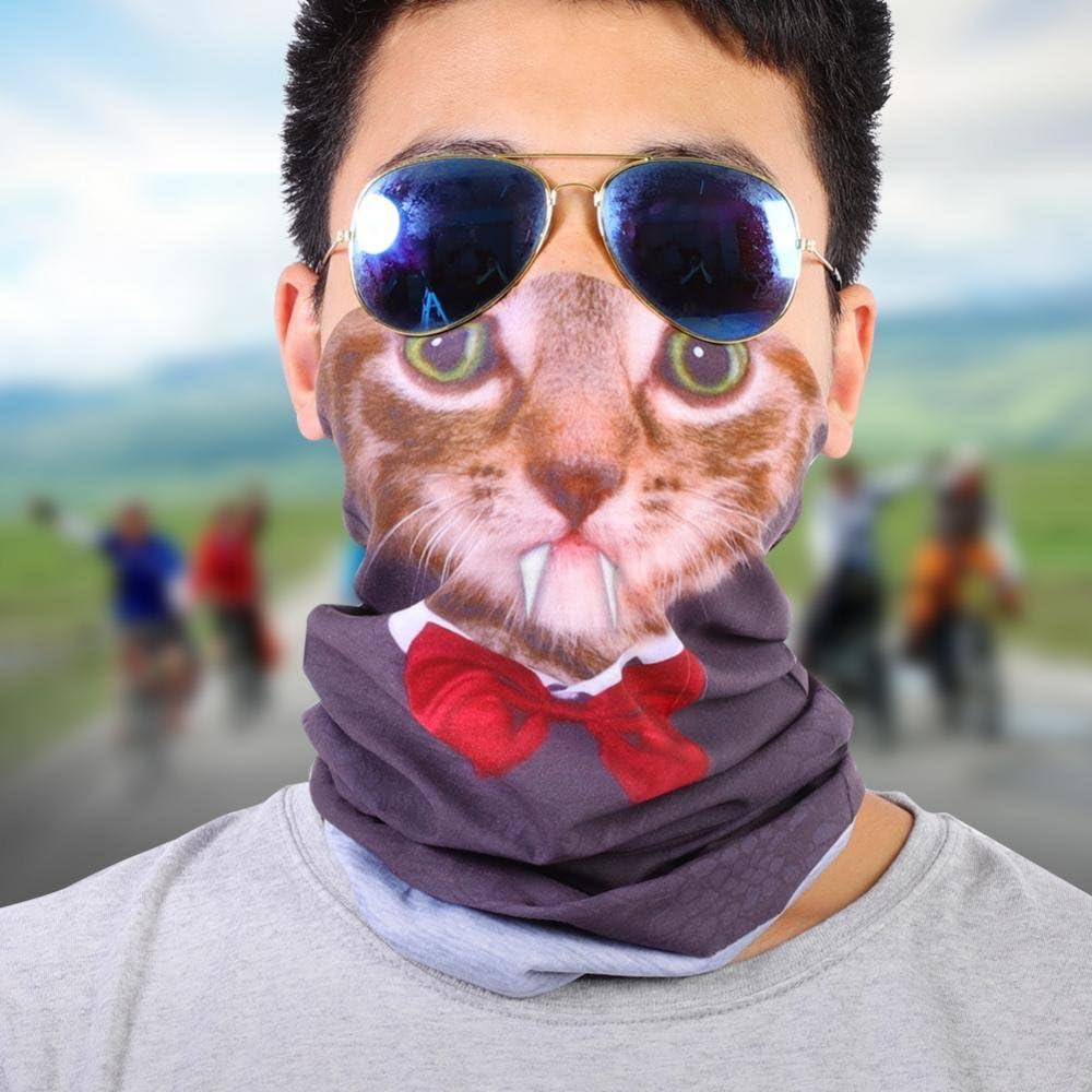 AC023 Alomejor Yanmeer Multifonction Tour de Cou Cagoule Chapeaux Tube Masque Visage Masque Visage Poussi/ère Protection pour Randonn/ée Voyage V/élo Moto