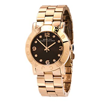 Image Unavailable. Image not available for. Color  Marc by Marc Jacobs  MBM3167 Women s Amy Brown Dial Rose Gold Tone Steel Bracelet Watch 3fd6c82e3c