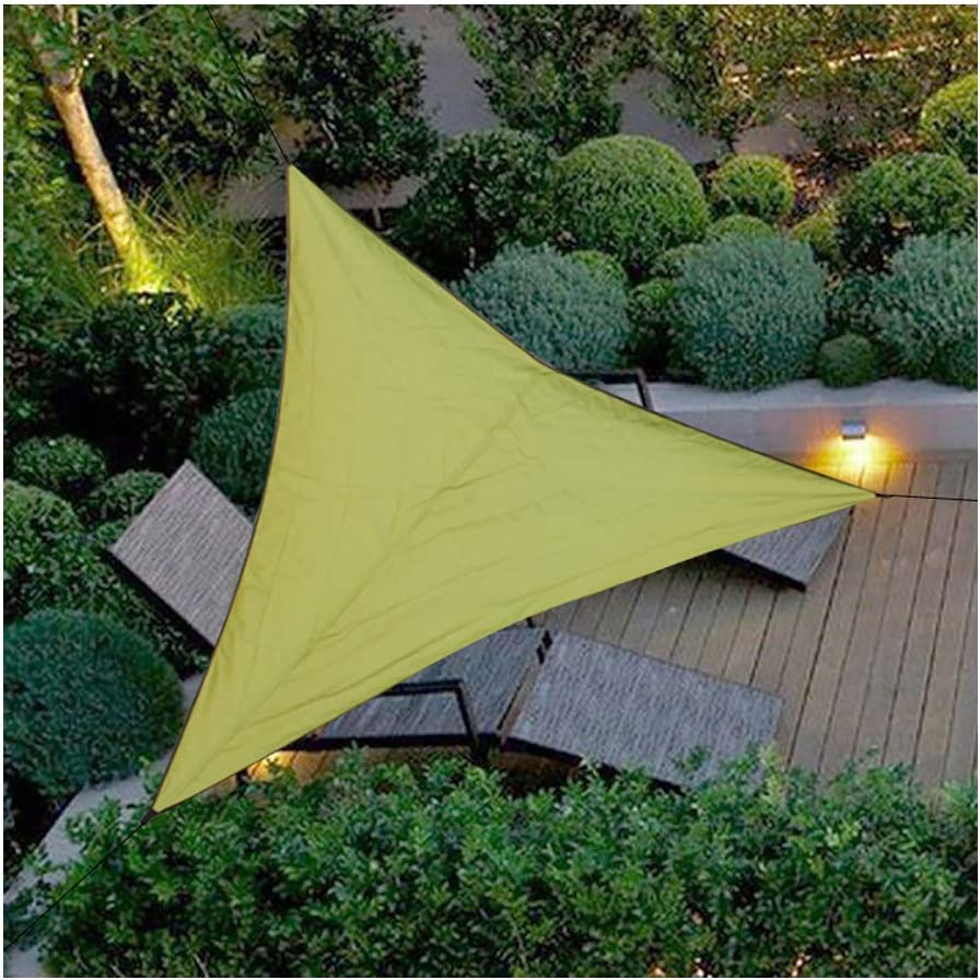 BaiYouDa 12 x12 x12 Green Triangle Permeable Sun Shade Sails UV Block Perfect for Outdoor and Patio