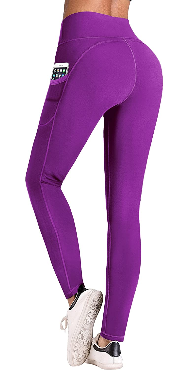 IUGA High Waist Yoga Pants with Pockets, Tummy Control, Workout Pants for Women 4 Way Stretch Yoga Leggings with Pockets