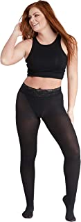 product image for Opaque Ribbed Tights | Comfort Lace Top | Stay Up | Seven Sizes with Plus Sizes