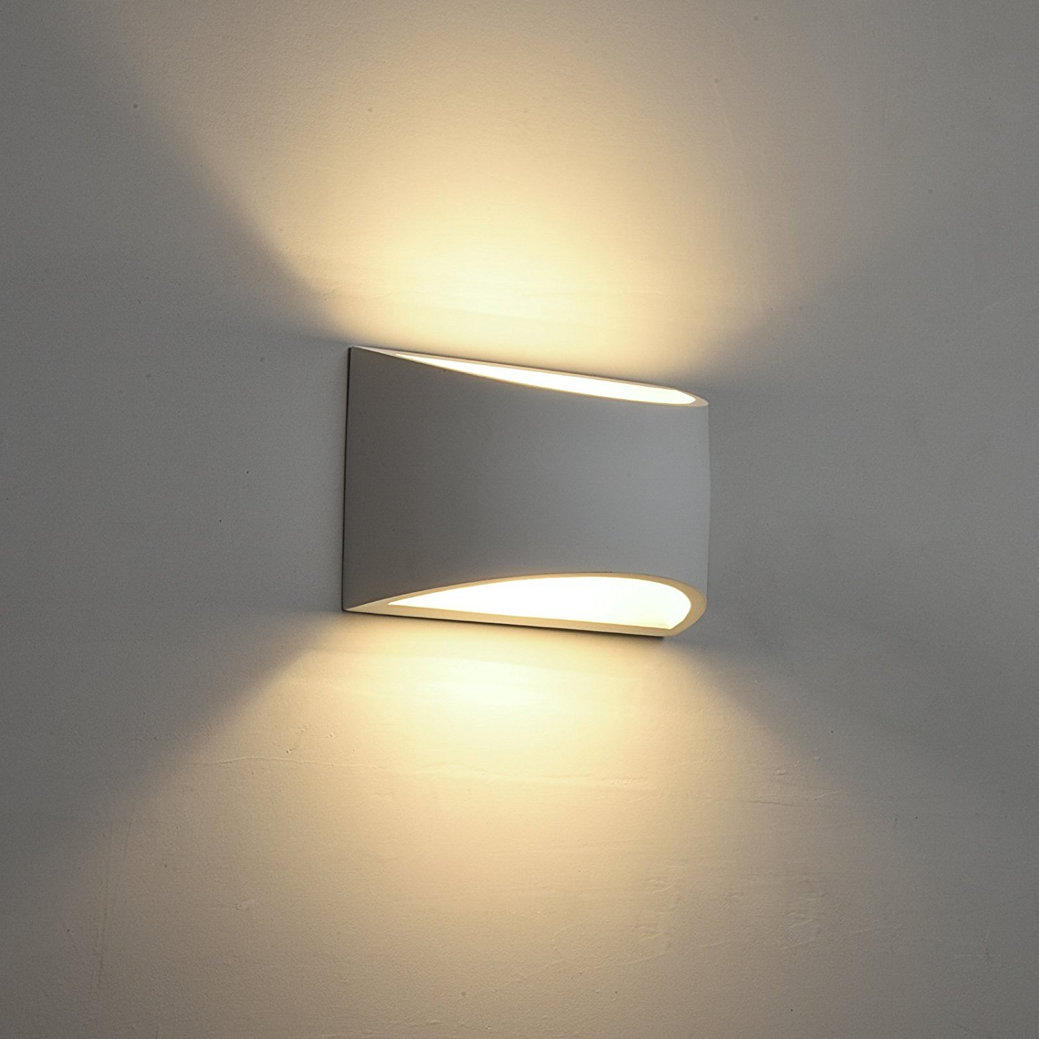 Deckey wall light led up and down indoor lamp uplighter downlighter warm white amazon co uk lighting