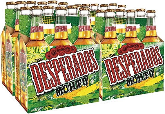 Desperados Mojito Cerveza - Pack de 24 Botellas x 330 ml - Total ...