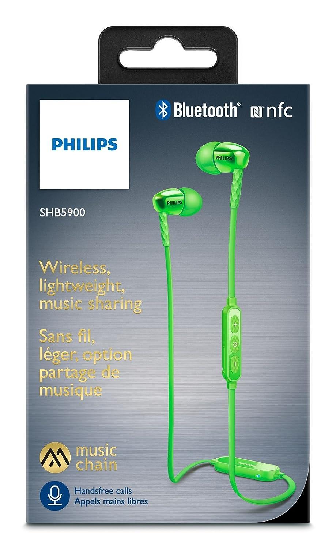 Philips SHB5900GN/00 Auricular Intraaural Dentro de oído Verde: Amazon.es: Electrónica