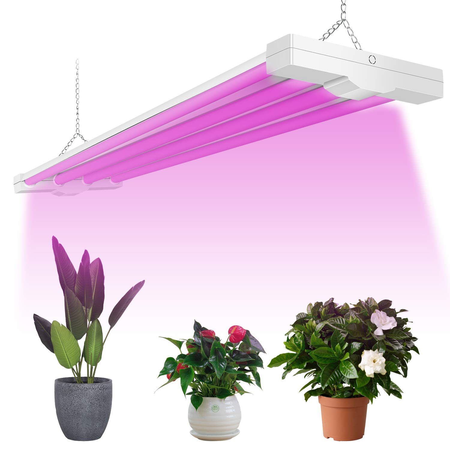 AntLux 4ft LED Grow Light 80W Full Spectrum Integrated Growing Lamp Fixture  for Greenhouse Hydroponic Indoor Plant Seedling Veg and Flower, Plug in