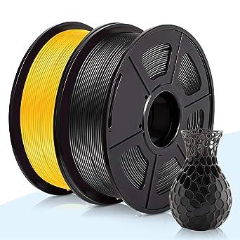 PLA Filamento Negro & Oro,3D Warhorse Pla Filamento de Impresion ...