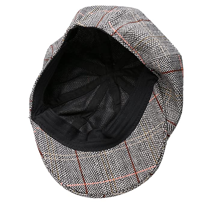 78005c23460 Buy FLAWISH Newsboy Golf Flat Gatsby Tweed Sun Hat Country Beret Baker Cap  Grey Online at Low Prices in India - Amazon.in