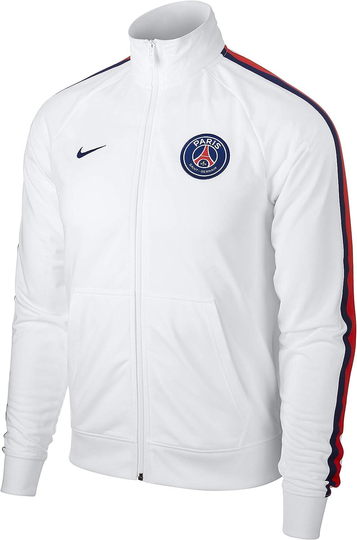 Nike Paris Saint Germain Chaqueta, Hombre, White/Loyal Blue, Large ...