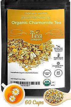 The Tea Company Organic Chamomile Tea with Whole Dried Flowers