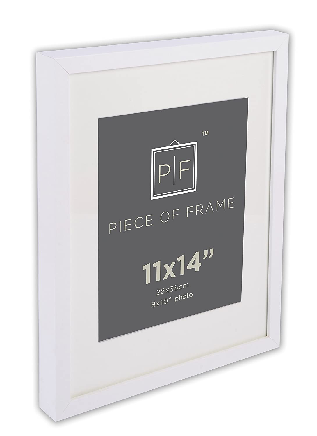 White MDFW1114M-01-SF0191 Golden State Art 11x14 Photo Frame for 8x10 Pictures with Ivory Color Mat /& Real Glass