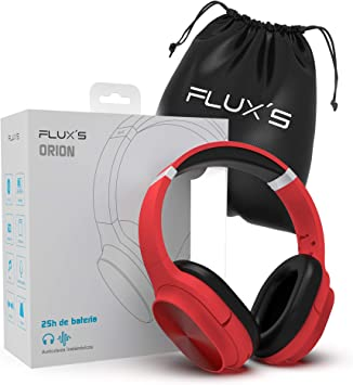 Auriculares Bluetooth de Diadema FluxS, Cascos Bluetooth 5.0 Inalámbricos, Alta fidelidad, Plegables, Micrófono Incorporado, Micro SD y Radio FM, para iPhone/Android/Samsung/Tablet/TV (Rojo): Amazon.es: Electrónica