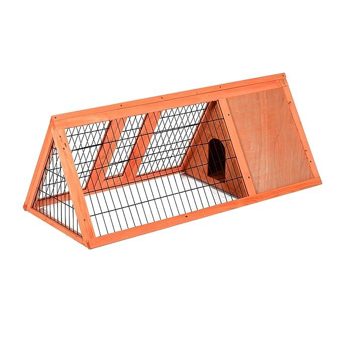 8 opinioni per Pawhut – Gabbia per Conigli e Animali Domestici in Legno di Abete 118 x 50 x