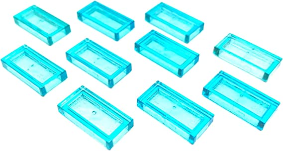 20 NEW LEGO Plate 1 x 1 Trans-Light Blue