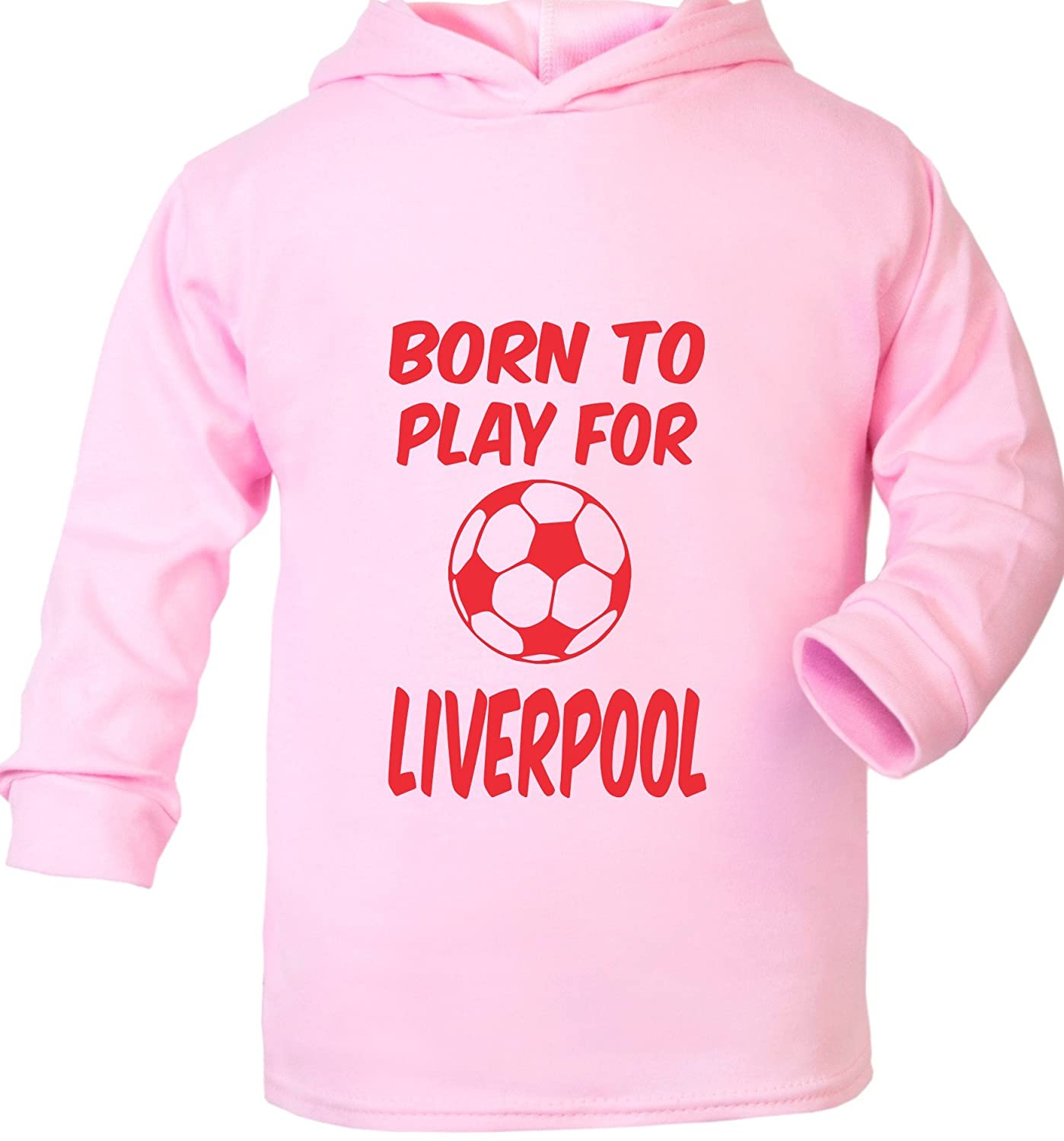 Print4U Born to Play for Liverpool Supersoft Baby Hoodie
